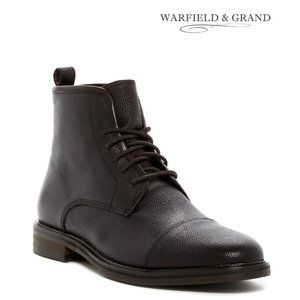 Warfield & Grand Pebbled Leather Cap-Toe Boot